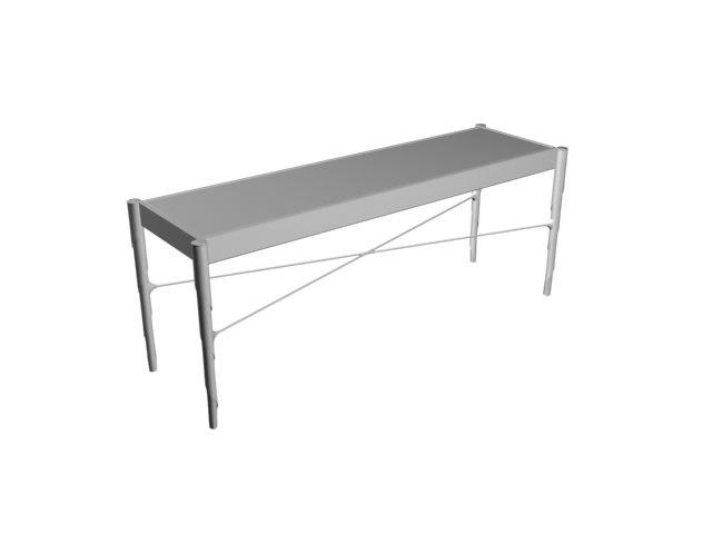 maya metal table