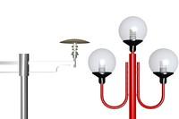 column street lamps 3d model
