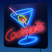 window sign neon light 3d model