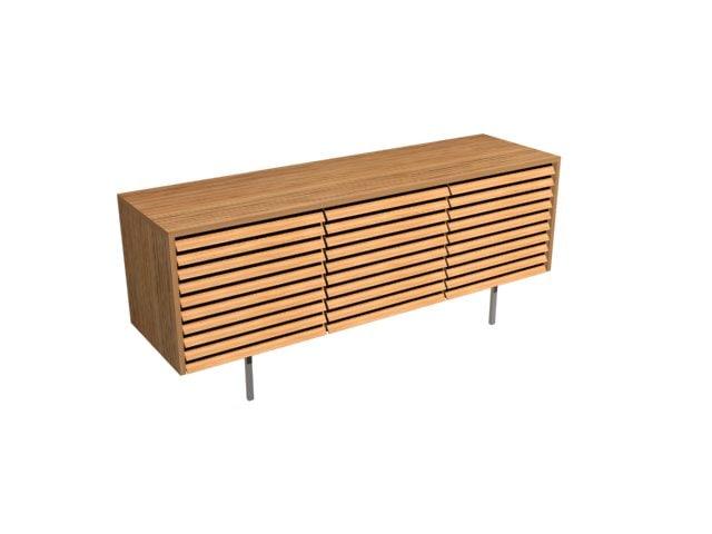 oak table louvered 3d max