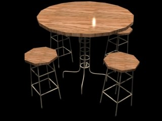 3ds chair table