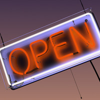 3d model window sign neon
