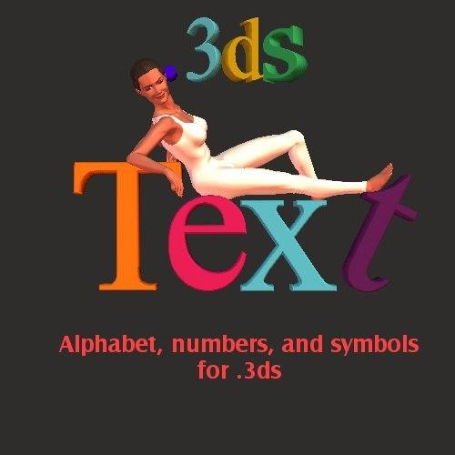 font poser web 3d model