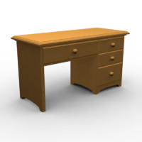desk interior 3d 3ds