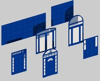 doors doorway 3d dxf