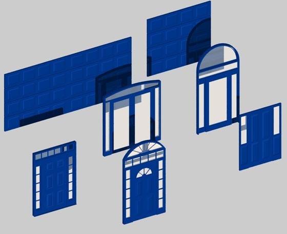 doors doorway 3d dxf