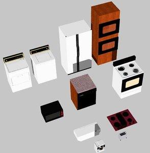 appliances household 3d model
