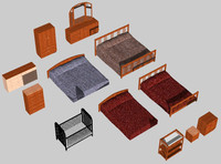 bedroom furniture dxf