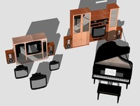 3d kitchen cabinet model