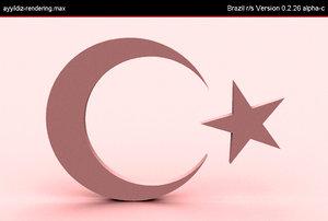 free max model turkish flag ay