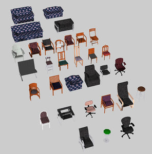 seats chairs 3d model