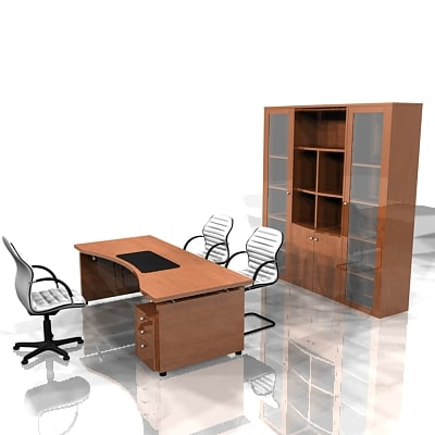 3ds max fully office furniture