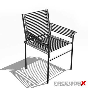 3d model faceworx chair