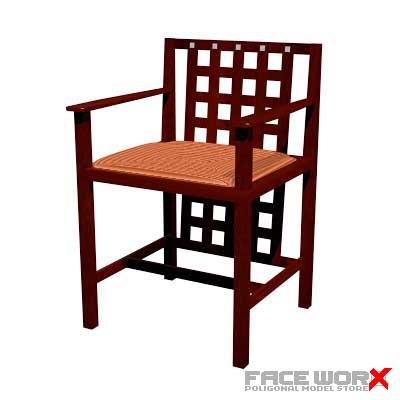 3d faceworx chair charles model
