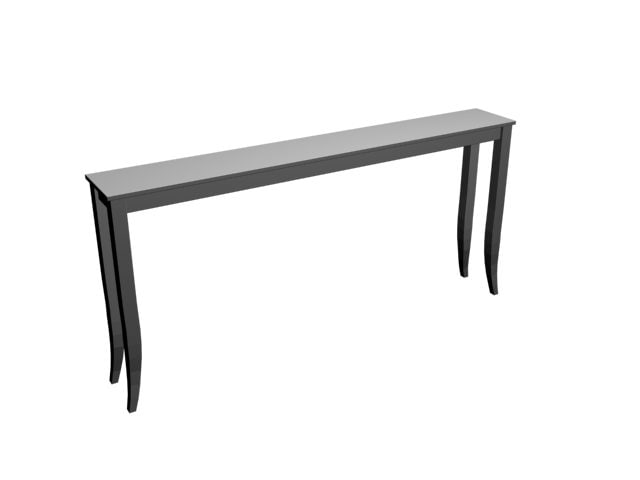 wood console table max