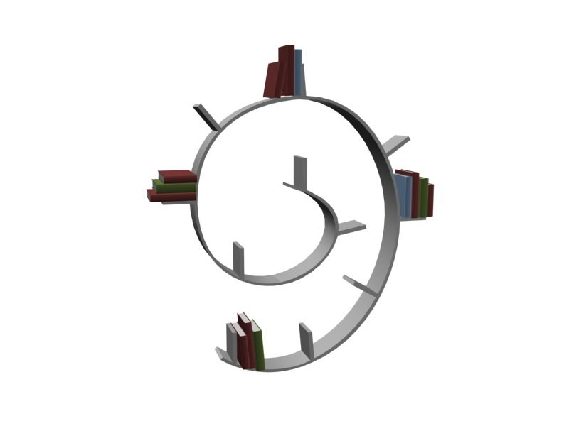 book worm 3d model