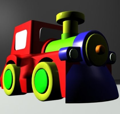 3ds max toy train