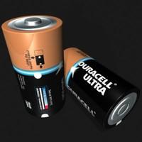 3d duracell battery model
