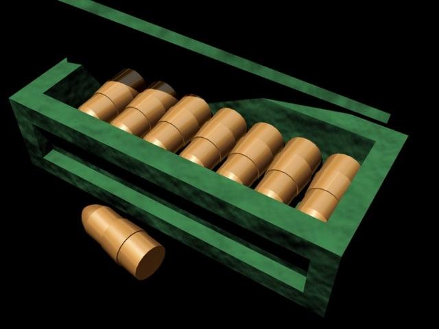 free ammobox bullet 3d model