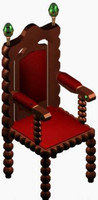 3d gotic chair