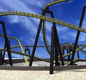 rollercoaster cart 3d model
