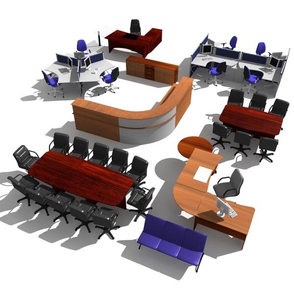 office furniture pack 3d model