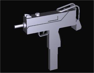ingram submachine gun 3d model