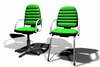 3d model of task chairs