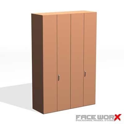 wardrobe furniture dresser 3d max