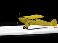 piper j-3 3d model