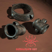 iron shackles 3d model