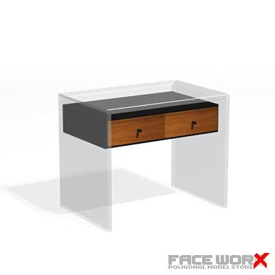 3dsmax table glass