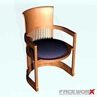 faceworx chair 3d max