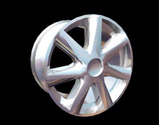 alloy wheel renault talisman 3d model