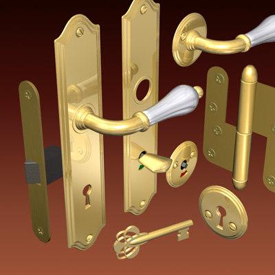 handle latch 3d model