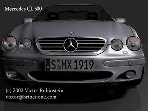 3d model mercedes cl 500