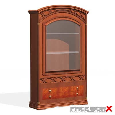 cabinet display 3d max