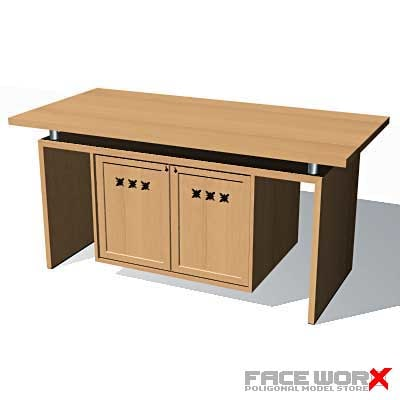 desk kitchen 3d max