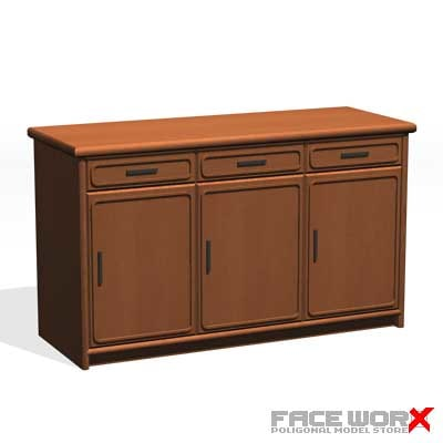 3ds max desk kitchen