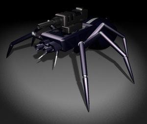 spider bug 3d model