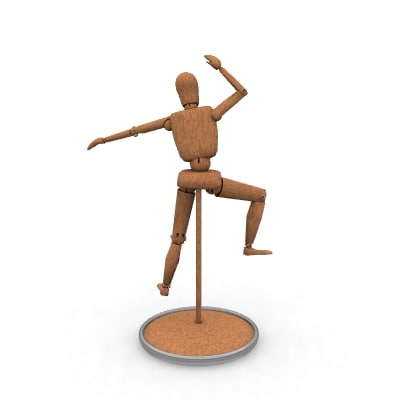 wood drawing dummy 3d model