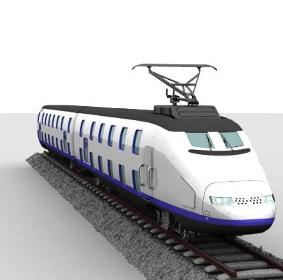 tgv train 3d model