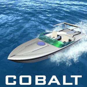 boat watercraft motorboat 3d model