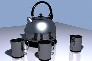 3d model teapot mug