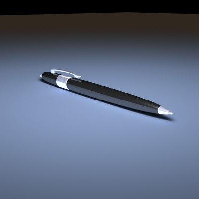 3d model ball fountain pen