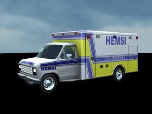 ultramedic ambulance 3d model
