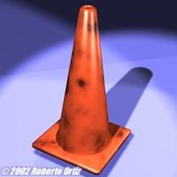 traffic cone 3d lwo