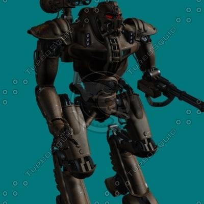 alien robot 3d max
