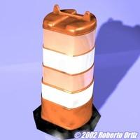 hi-rez traffic drum 3d model