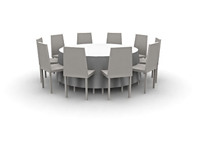 lightwave events props table chairs